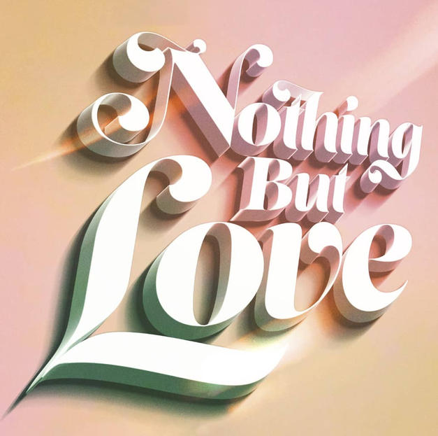 Nothing But Love sticker design