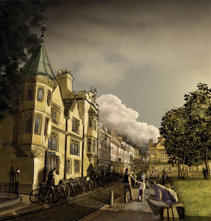 Road to Heffers, Cambridge