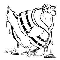 Boat Chicken Chicken-sample page illustration