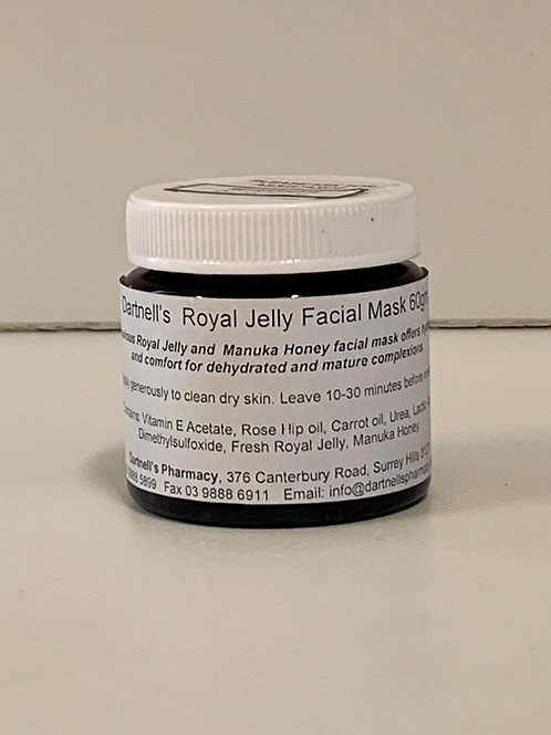 Royal jelly face mask