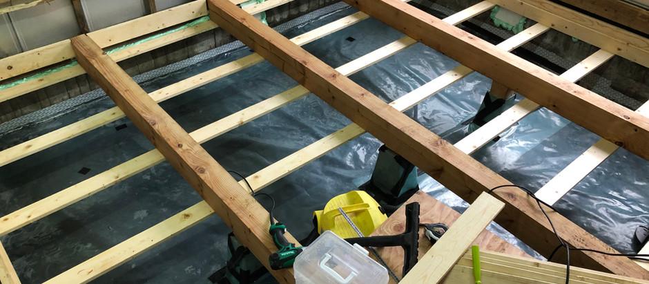 (自邸リノベ)床下地組と断熱材充填version1