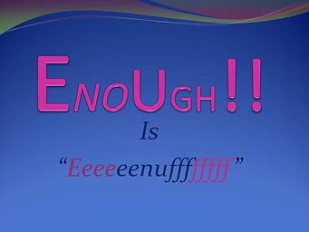 Enough is enogh.