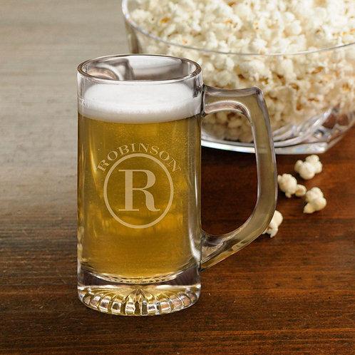 Beer Mugs - Sports Mug - Monogram - 12 Oz.