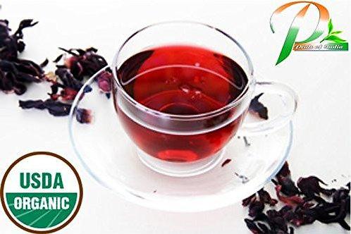 Organic Hibiscus Herbal Full Leaf Tea