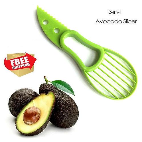 3-in-1 Avocado Slicer Fruit Peeler Cutter Kitchen Vegetable Tools