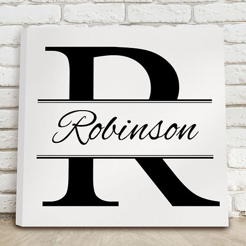 Stamped Design Canvas Sign