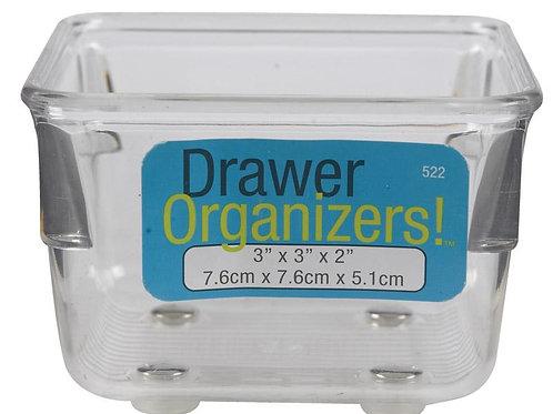 InterDesign  3 in. H x 3 in. W x 2 in. L Clear  Plastic  Drawer