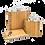 Thumbnail: 3-Piece Wooden Flask Set6 Oz. Hip Flask, 2 Oz. Keychain Flask Credit Card Opener
