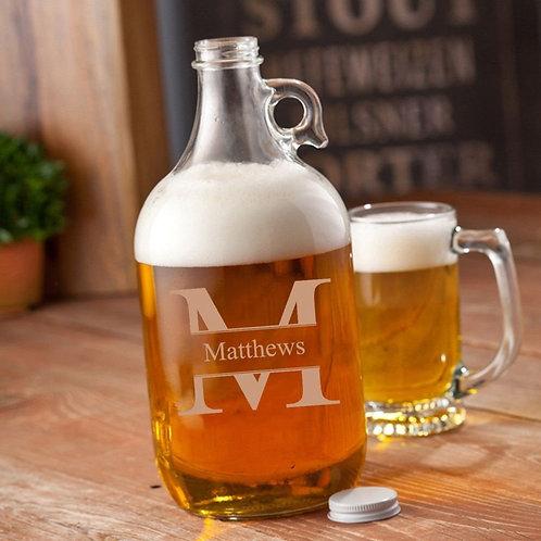 Glass Beer Growler - 64 Oz.