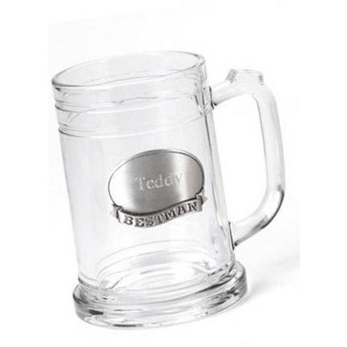 Personalized 16 Oz. Mug W/Pewter Medallion