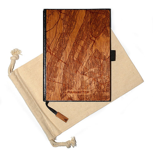 5 X 7 Wood Travel Journal / Planner )