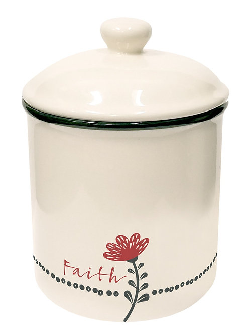 Scribbles Kitchen: Canister - Faith