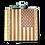 Thumbnail: 6 Oz Wooden American Flag Hip Flask