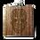 Thumbnail: 6 Oz. Wooden Hip Flask (Dio De Los Muertos - Day of the Dead)