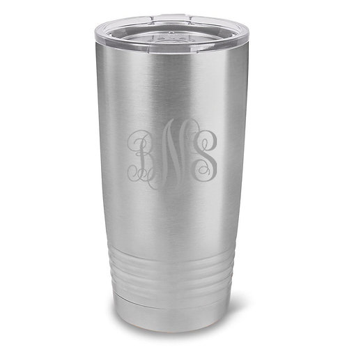 Personalized Húsavík 20 Oz. Stainless Silver Double Wall Insulated Tumbler - All