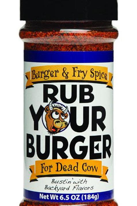 Rub Your Burger  Burger & Fry Spice  Seasoning Rub  6.5 oz.