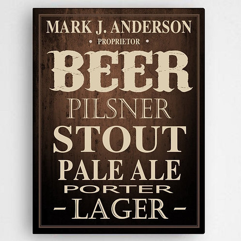 Beer Canvas Sign