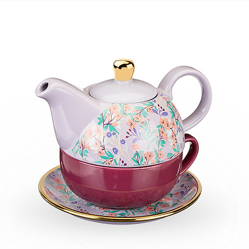 Addison™ Wildflower Purple Tea for One Set by