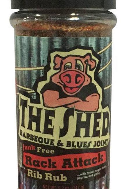 The Shed  Rack Attack  Rib Rub  5.2 oz.