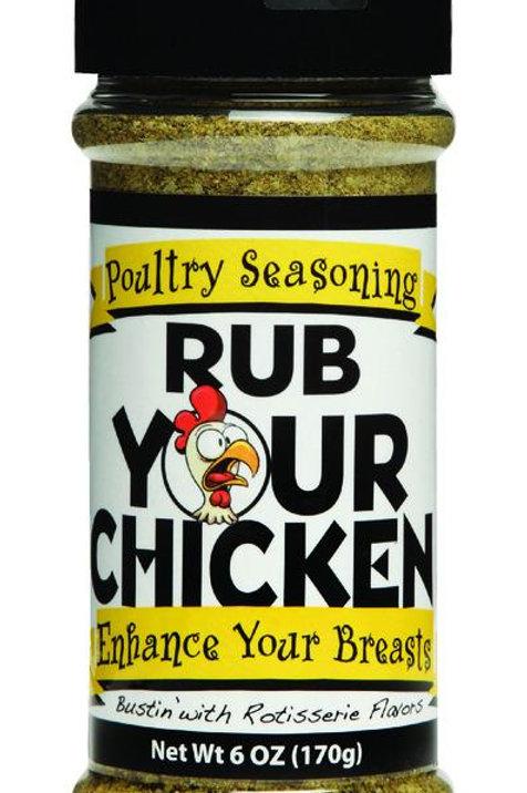Rub Your Chicken  Poultry  Seasoning Rub  6 oz.