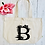 Thumbnail: Personalised Tropical Flower Letter Organic Marina Tote