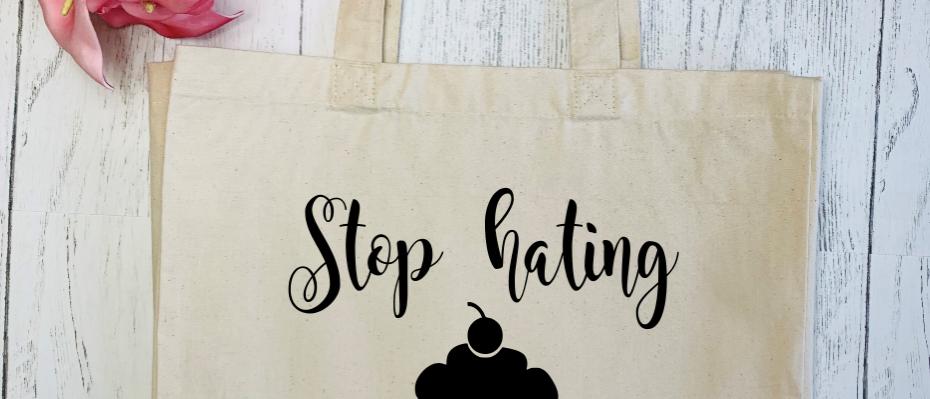 Stop Hating, Start Baking Canvas Classic Shopper