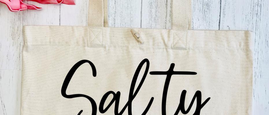 Salty Vibes Organic Marina Tote