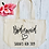 Thumbnail: Personalised Bridesmaid Hen Party Organic Marina Tote