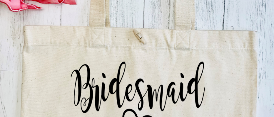Personalised Bridesmaid Hen Party Organic Marina Tote