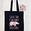 Thumbnail: Save The Chubby Unicorns Canvas Classic Shopper