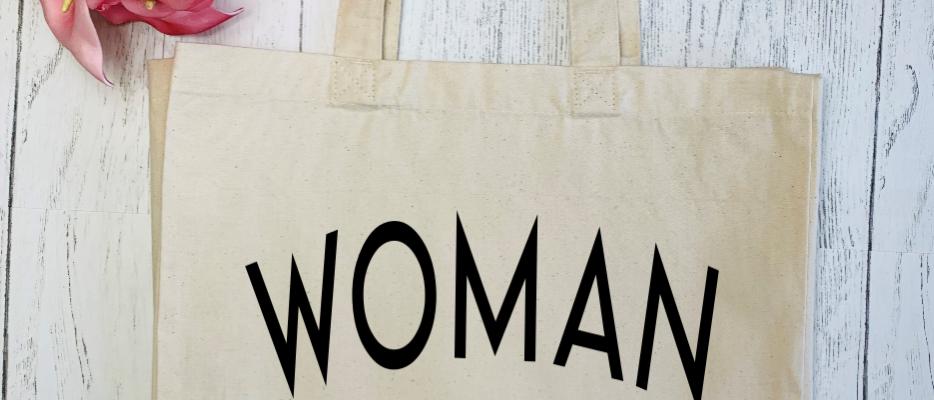 Woman Up Canvas Classic Shopper