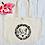 Thumbnail: Personalised Initials Letter Love Hearts Organic Marina Tote