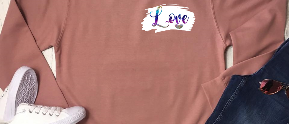 Mini Love Brush Stroke Sweatshirt