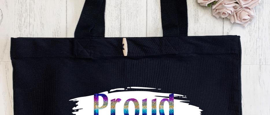 Brush Stroke Proud LGBTQ Organic Marina Tote