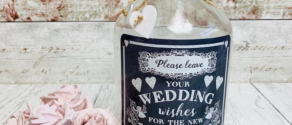 Mr & Mrs Wedding Wishes Jar