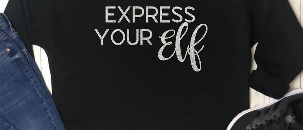 Express Your Elf Christmas Luxury Oversized Sweatshirt