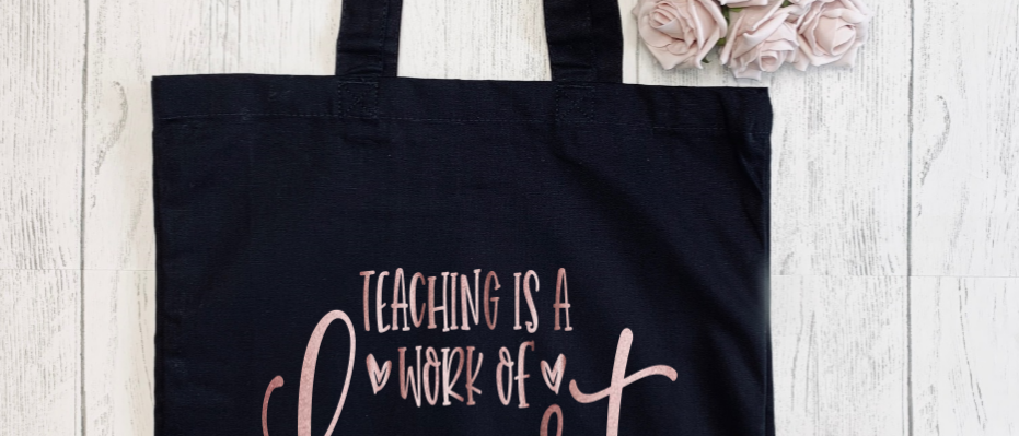 Teaching Work Of Heart Canvas Classic Shopper