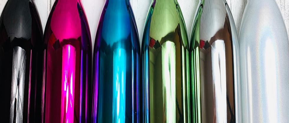 Solid Metallic Double Wall Reusable Water Bottle