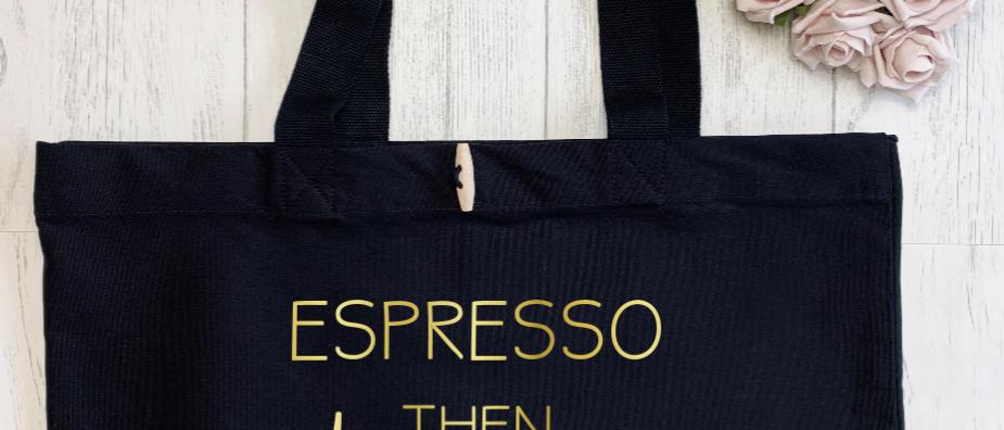 Espresso Then Prosecco Organic Marina Tote
