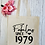 Thumbnail: Personalised Fabulous Since Age Birthday Canvas Classic Shopper