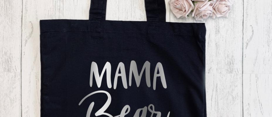 Mama Bear Claw Canvas Classic Shopper