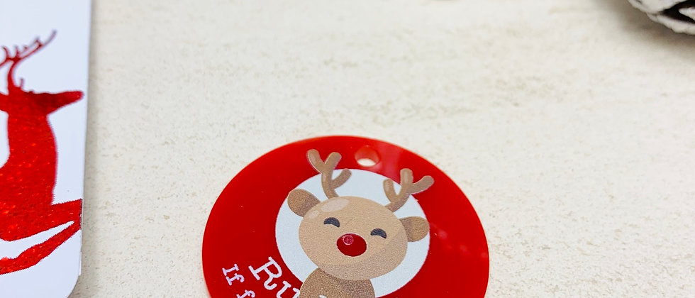 Rudolph's Lost Christmas Name Tag