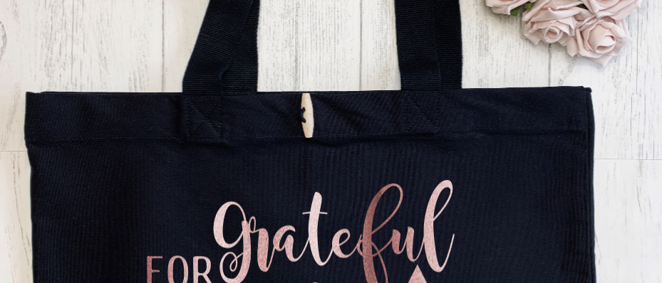 Grateful For My Tribe Organic Marina Tote
