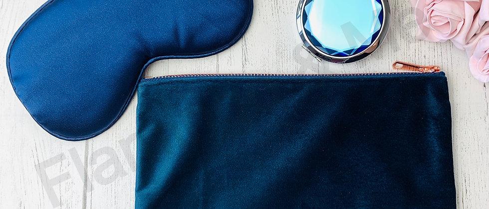 Eye Mask, Mirror & Velvet Make Up Pouch Trio - Mock Up