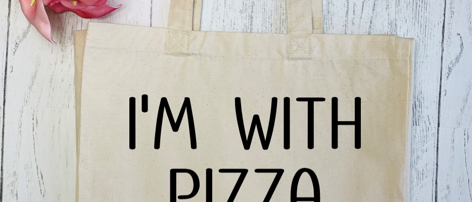 I'm With Pizza Canvas Classic Shopper