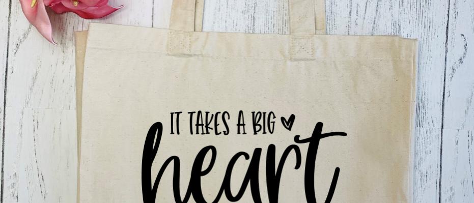 Big Heart Little Minds Teacher Canvas Classic Shopper