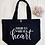 Thumbnail: Teaching Is A Work Of Heart Organic Marina Tote