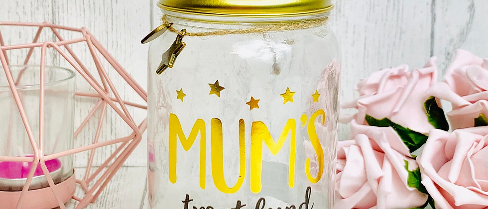 Mum's Treat Fund Money Box Saving Jar