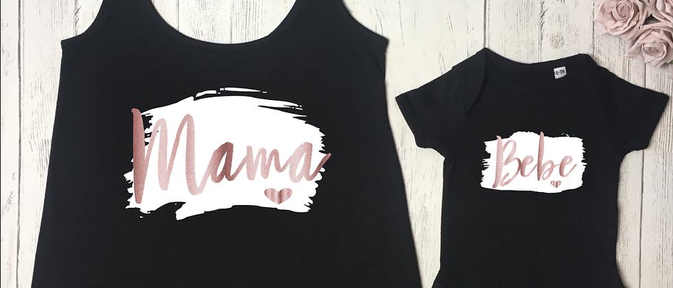 Mama Bebe Brush Stroke Vest & Bodysuit Set