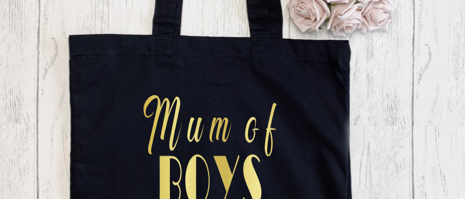 Mum Of Boys Canvas Classic Shopper